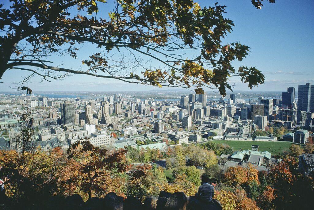 vista da cidade de montreal canada
